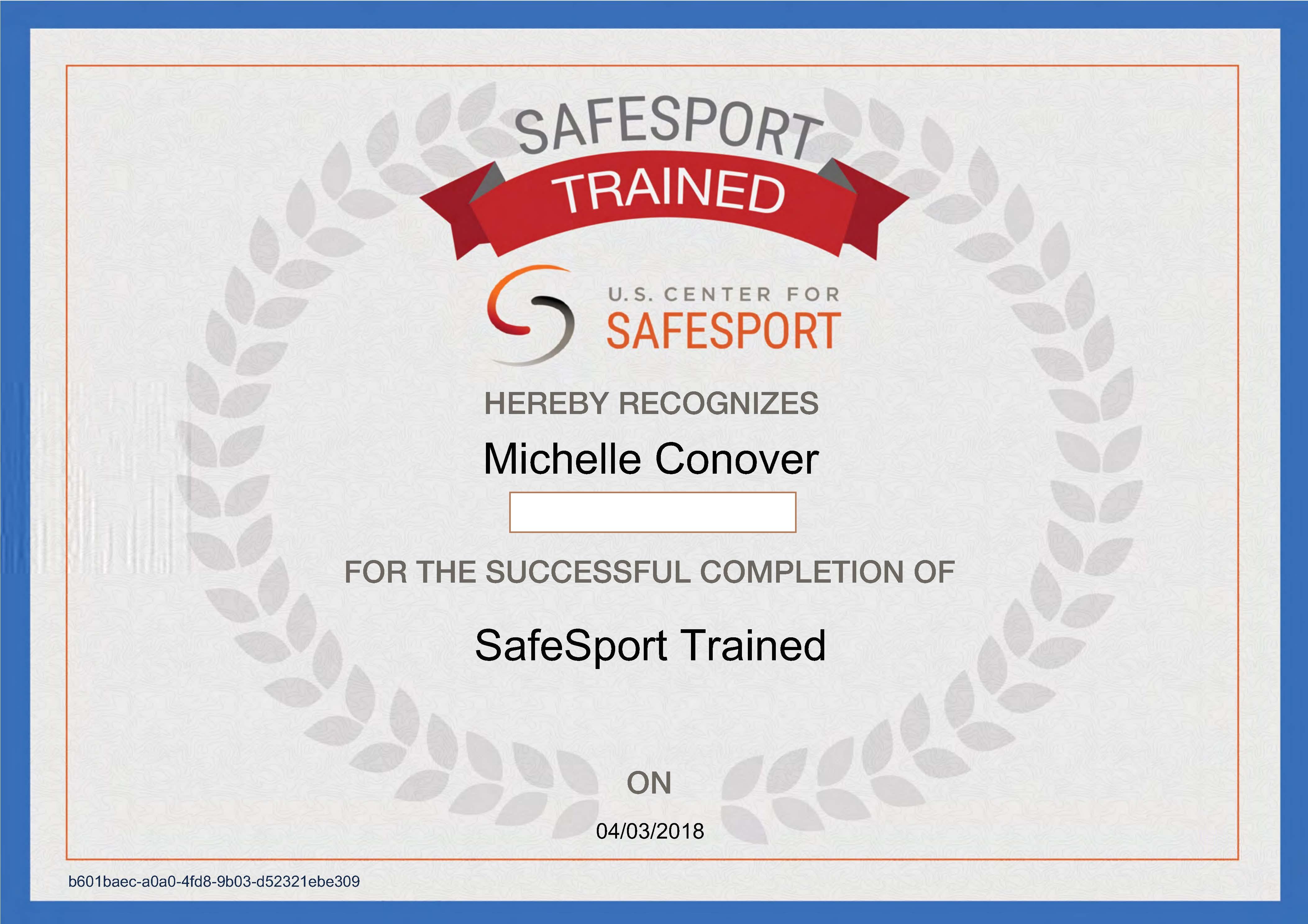 SafeSport & ACE Certification